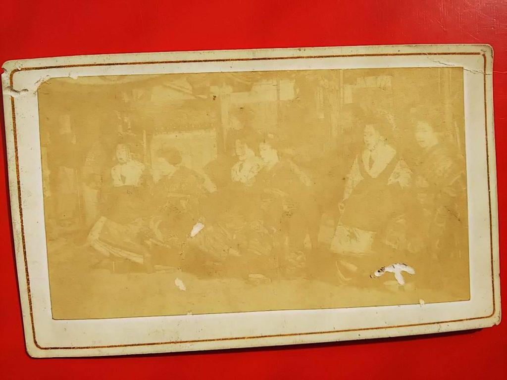 京都島原太夫鶏卵紙古写真