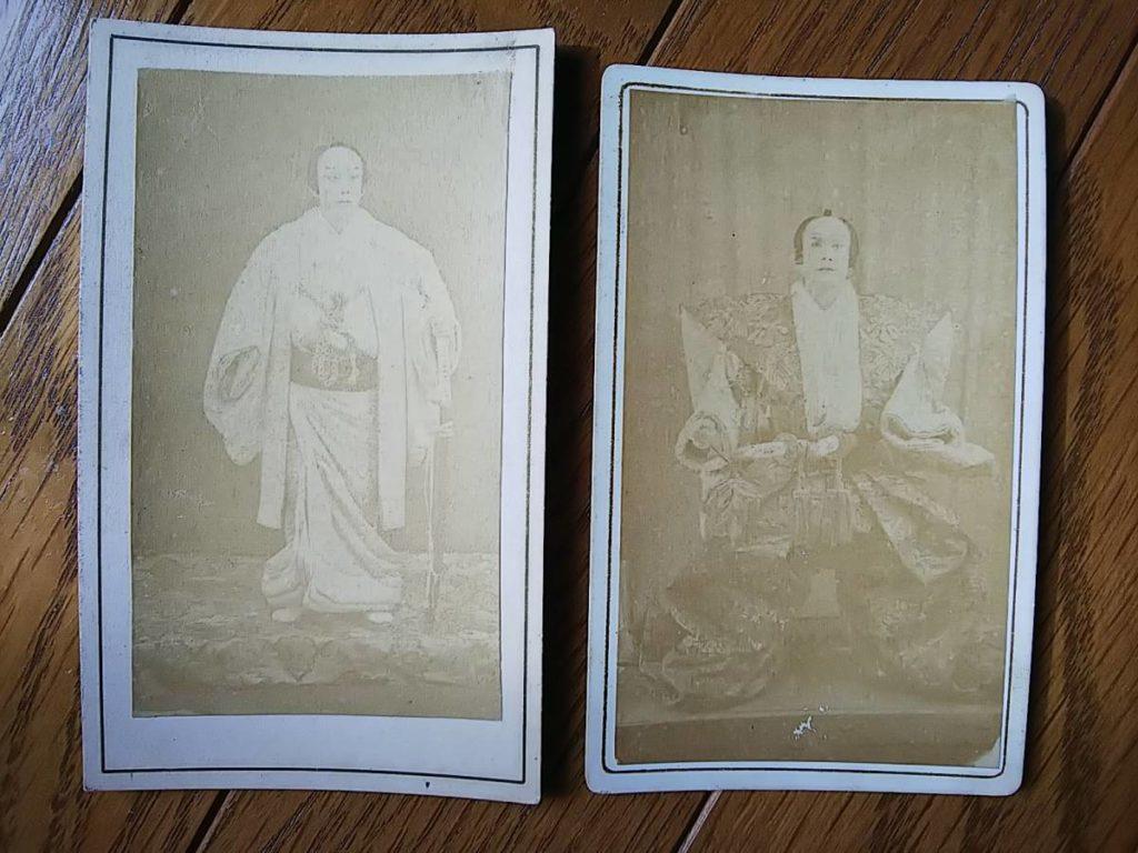 初代・實川延若鶏卵紙古写真