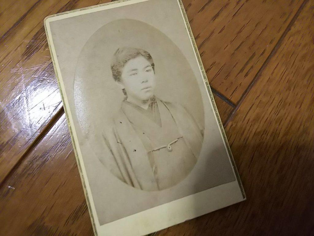南部藩士・那珂通世肖像古写真鶏卵紙