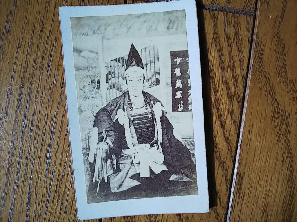 市川団十郎鶏卵紙古写真