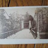 東京・山里の吊り橋鶏卵紙古写真台紙