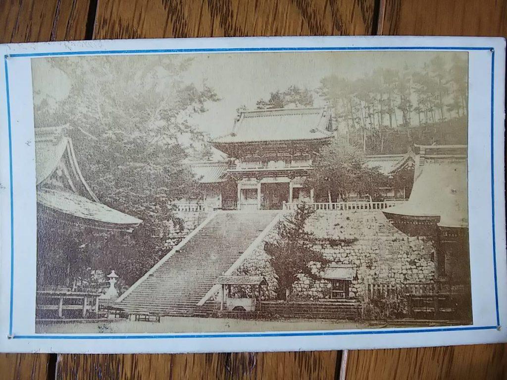 鶴岡八幡宮鶏卵紙古写真台紙