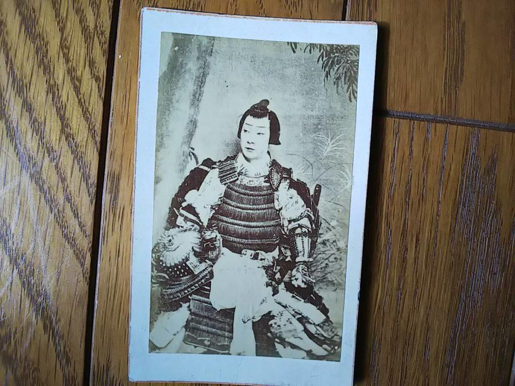 2代目・沢村訥升鶏卵紙古写真