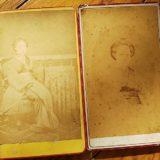 【超美人の女性2枚】肖像古写真鶏卵紙