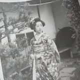 ブロマイド風古写真美人女性