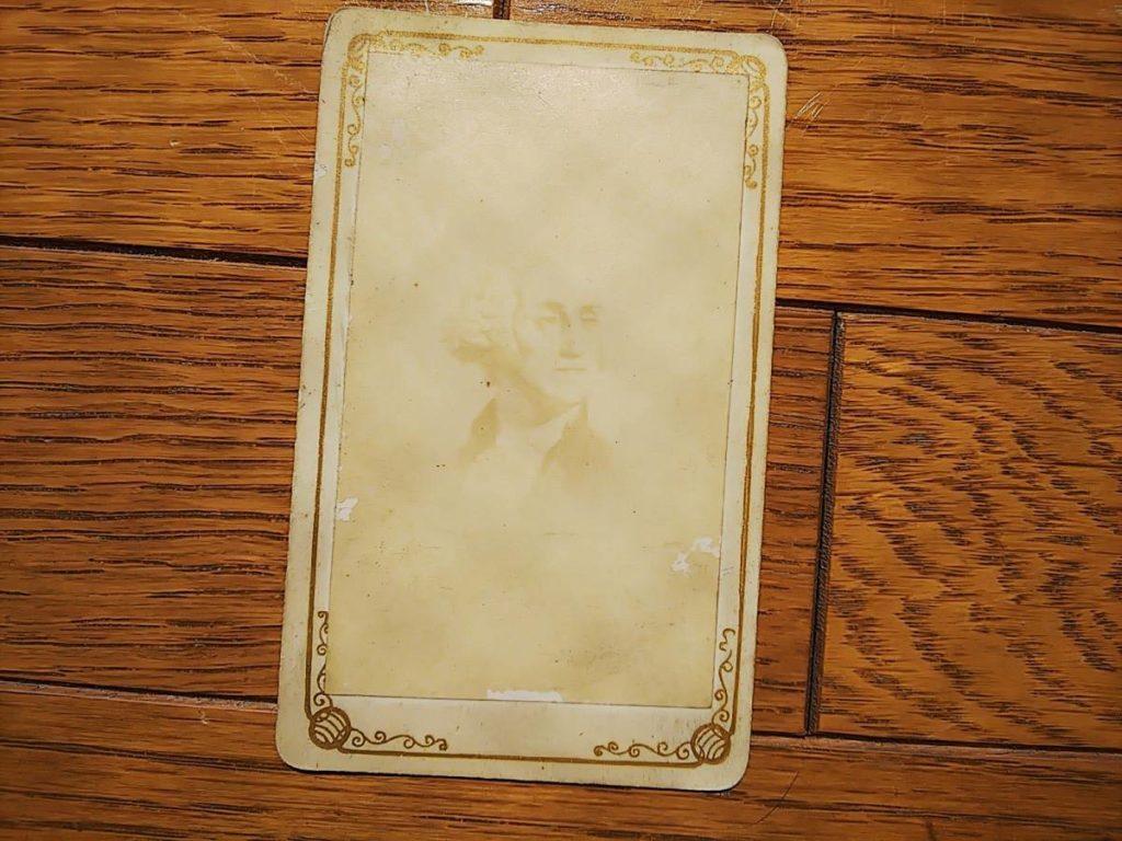 写真師台紙鶏卵紙初代大統領・ジョージワシントン