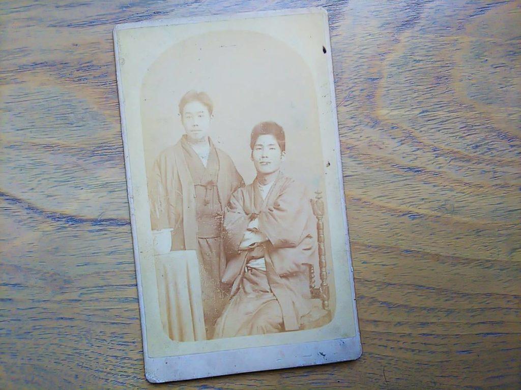 【古写真の調査後売却】人物肖像(鶏卵紙、写真師・天野晴)