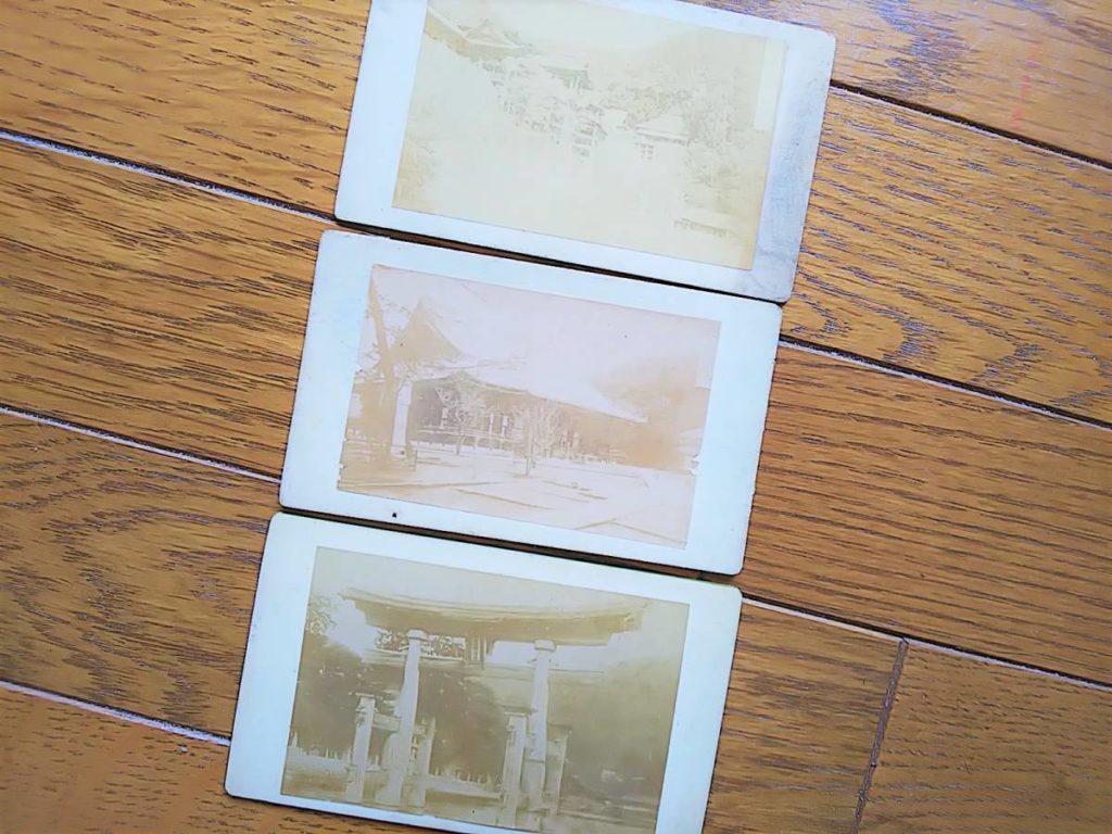 【古写真の調査後売却】京都・知恩院、清水寺など3枚(鶏卵紙、名刺版台紙)