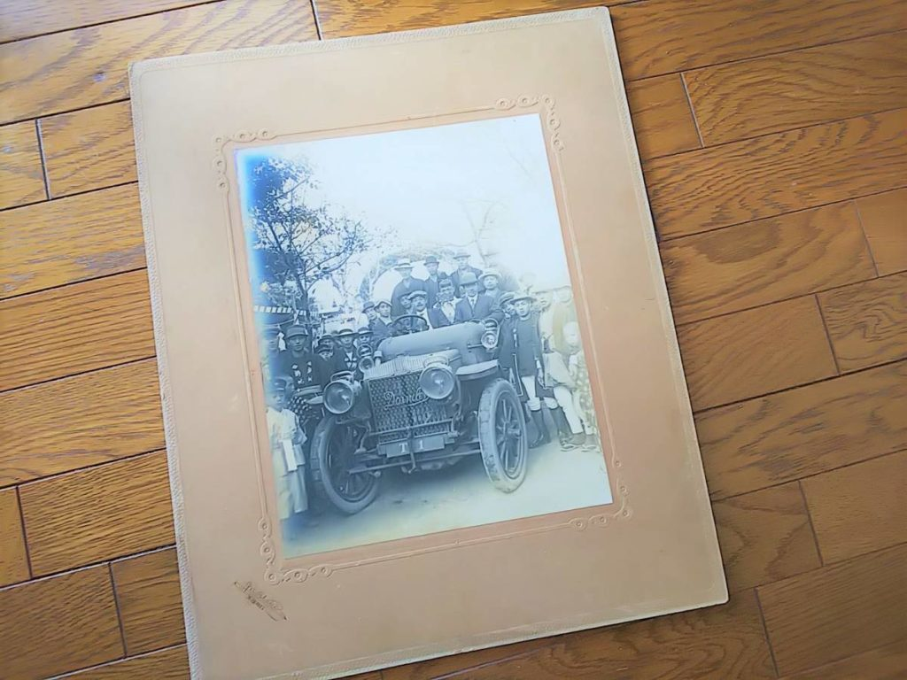 【古写真の調査後売却】クラシックカー・ダイムラー初期撮影(写真師・臼井)