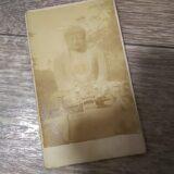 【古写真の調査後売却】高徳院・鎌倉大仏(鶏卵紙、台紙貼付)