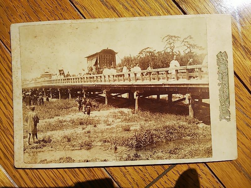 明治28年・第1回時代祭と思われる風景写真師台紙鶏卵紙