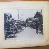 【古写真の調査後売却】山形酒田港・市場付近の風景(写真師・若林安松、台紙貼付)