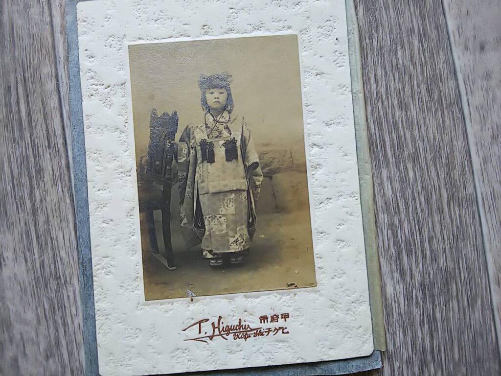 【古写真の調査後売却】とても美しい少女の肖像(台紙貼付)
