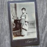 【古写真の調査後売却】写真師・樋口 桃雲撮影の美人少女の肖像(鶏卵紙、台紙貼付)
