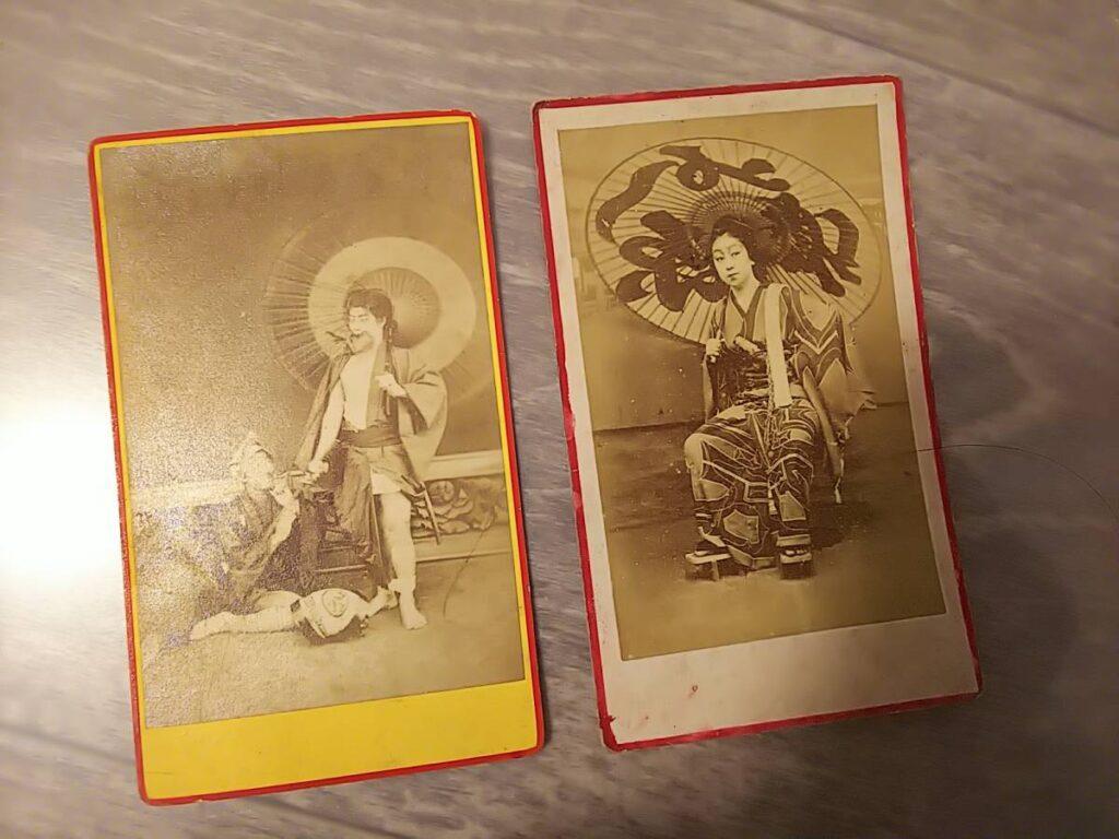 歌舞伎役者と美人肖像