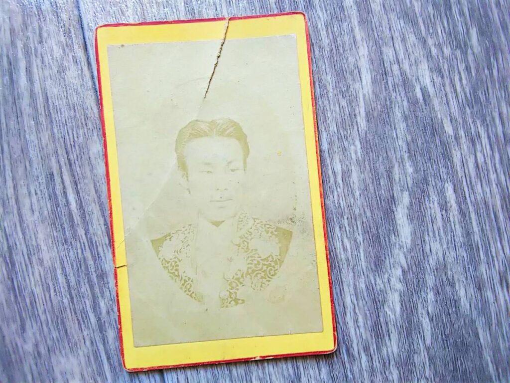 【古写真の調査後売却】薩摩唐通事・上野景範の人物肖像(鶏卵紙、台紙貼付)