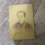 【古写真の調査後売却】甲府市長・若尾民造の人物肖像(鶏卵紙、台紙貼付)